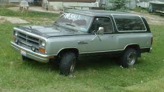 87 Dodge Charger 1987 Dodge Ramcharger For Sale