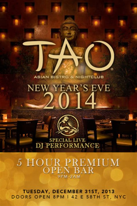 tao new years 2014 tao new york ny december 31 2013