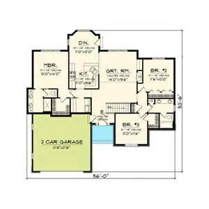 3 bedroom rambler floor plans 3 bedroom hill country rambler eurohouse