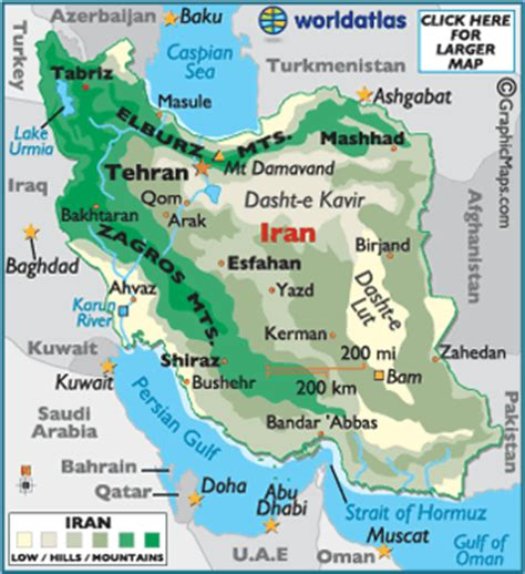 geographical map of iran iran map geography of iran map of iran worldatlas