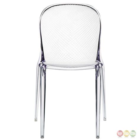 scape contemporary transparent acrylic dining side chair
