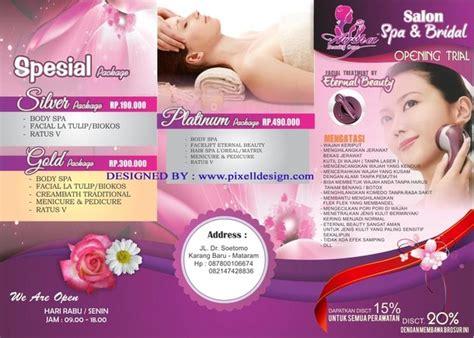 desain brosur salon desain brosur spa salon kecantikan image 4371859 by