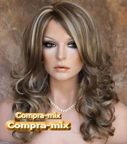 imagenes de rayitos del cabello peluca super natural larga color casta 241 o con luces mmy