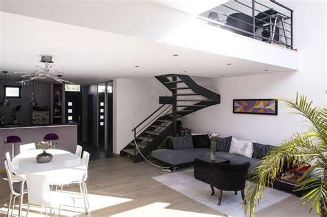 Escalier Dans Sejour by Maisons Jumel 233 Es En Ossature Bois Par Mag Architecte