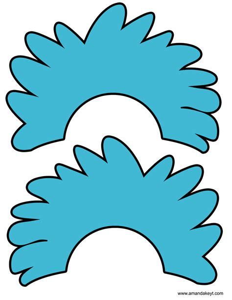 thing 1 and thing 2 printable template www imgkid com