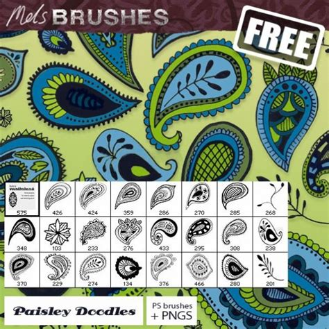 free doodle brush photoshop paisley doodle photoshop brushes 301 brushking