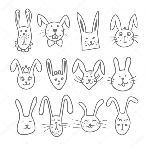 doodle pet doodle bunny faces pet heads happy easter bunnies