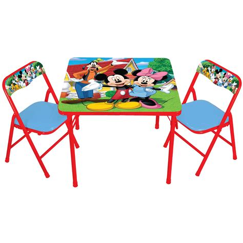 mickey mouse activity table set delta minnie mouse child s table and chair set kmart