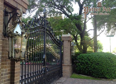 potter art metal studios elegant wrought iron gates and