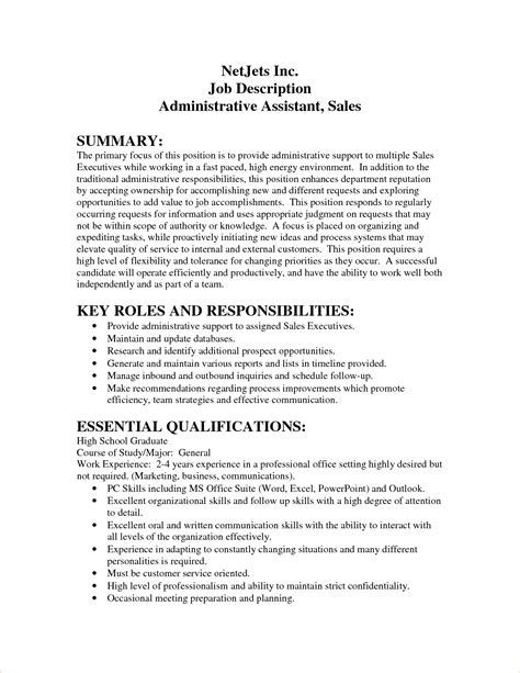 Administrative assistant job description   Business