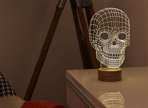 Portable 3d Illusion Skull Shape L Led Lu 3d Desain Tengkorak bulbing new concept of led ls home designing