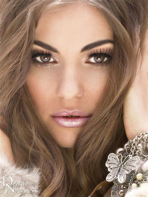 perfect hair color for brown eyes love this golden bronzy eye look and frosted pink lip