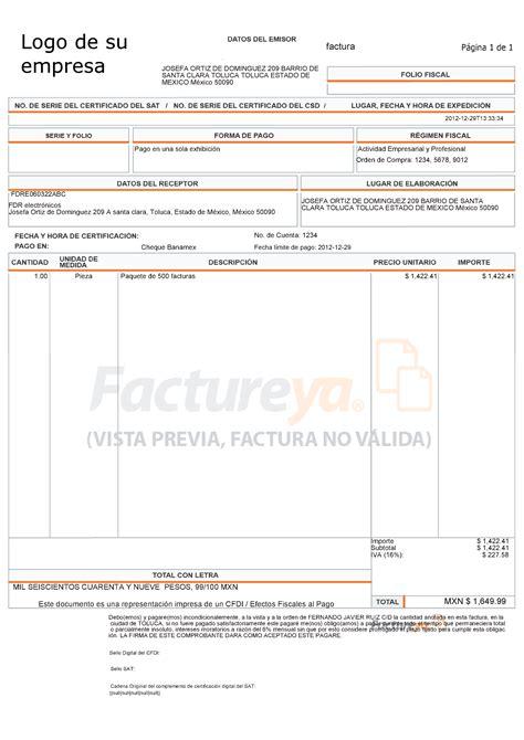 formato de facturas en excel mexico 191 qu 233 formato tiene la factura electr 243 nica