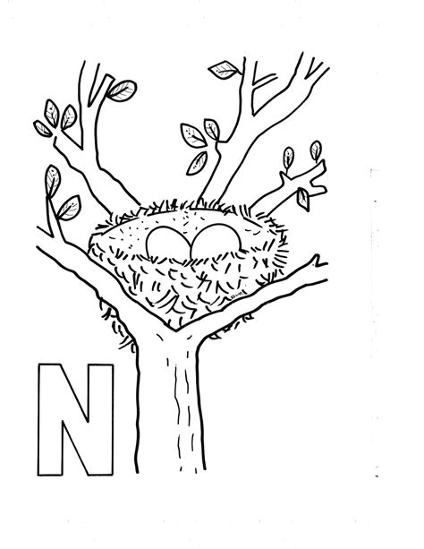 coloring pictures of letter n letter n coloring coloring pages