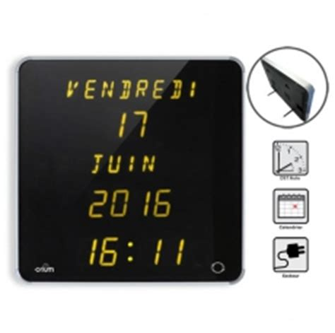 horloge calendrier digitale pendule grand affichage horloge calendrier pour senior