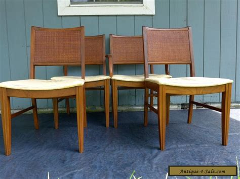 4 vintage mid century modern back dining chairs