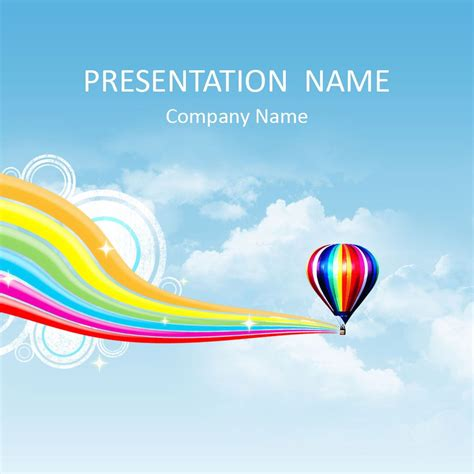 Hot Air Balloon Powerpoint Template J Layouts Air Powerpoint Template