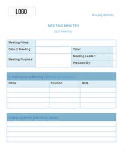 meeting template free 10 meeting minute templates free sle exle