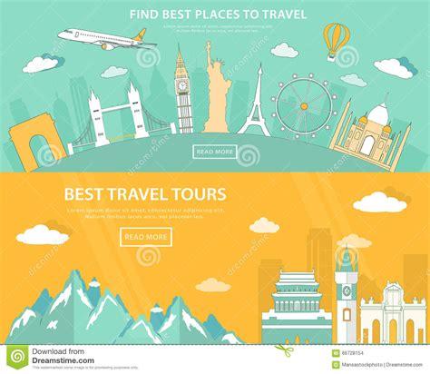 design banner tour flat design illustration concepts for travelling and