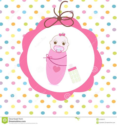 new born card template newborn swaddle baby with bottle greeting card stock