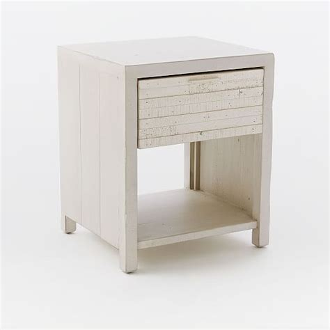 whitewashed nightstand bay reclaimed pine nightstand whitewashed west elm