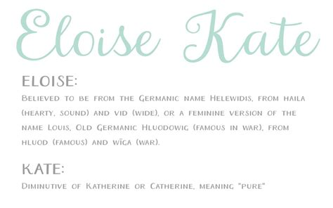 kate meaning popularity origin of baby name kate what s in a name eloise kate boco baby