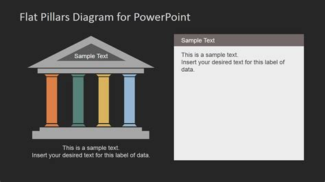 powerpoint themes roof flat pillars diagram for powerpoint slidemodel