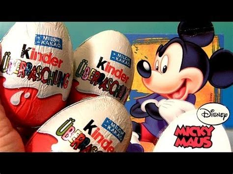 mickey mouse surprise eggs play toys kinder chocolate mickey mouse kinder surprise eggs kinder porsche cars