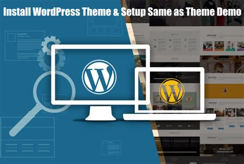 wordpress theme x demo content install wordpress theme and setup like theme demo for 10