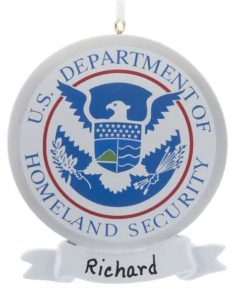 u s department of homeland security personalized ornament