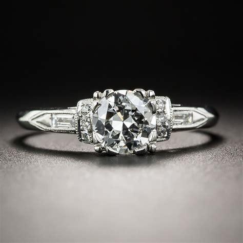 deco 68 carat and platinum engagement ring