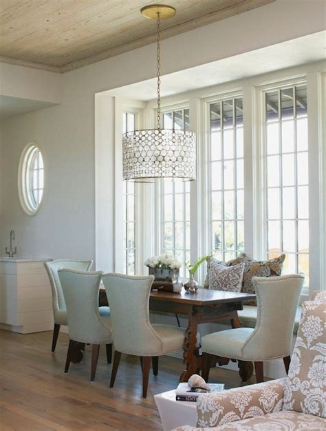 oly serena drum chandelier cottage dining room