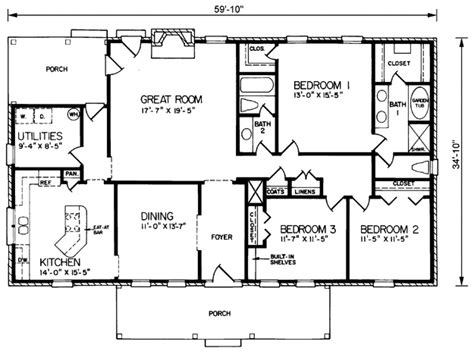 rectangular bungalow floor plans rectangular lot house plans rectangular free printable