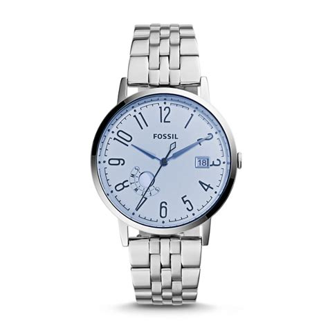 Fossil Vintage Muse Blue Stainless Steel Es3994 vintage muse three date stainless steel fossil