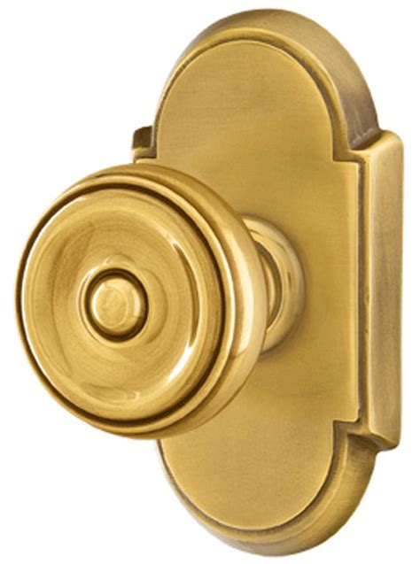 Door Knobs Sets by Solid Brass Waverly Door Knob Set With 8 Rosette