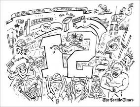 seahawks coloring pages seahawk logo coloring pages