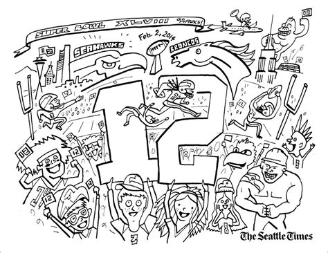 Seahawk Logo Coloring Pages Seahawks Color Pages