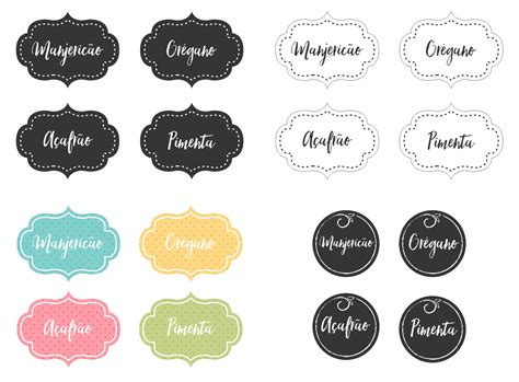 etiquetas para imprimir gratis personalizadas diy etiquetas para imprimir e organizar temperos 2 enjoy