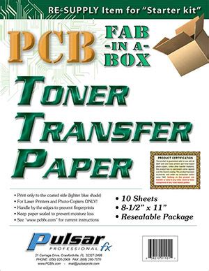 iron on transfer paper toner printer pcb quot fab in a box quot the 8min circuit board system