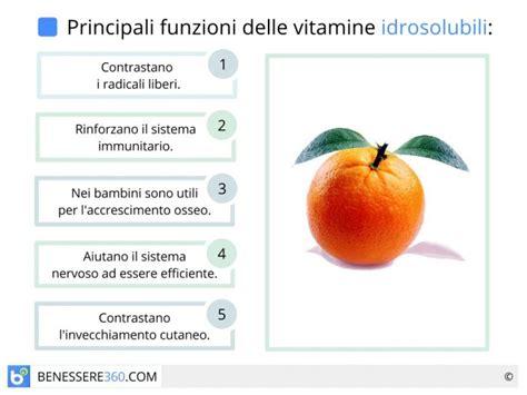 in quali alimenti si trovano le vitamine vitamine idrosolubili dove si trovano quali sono e a