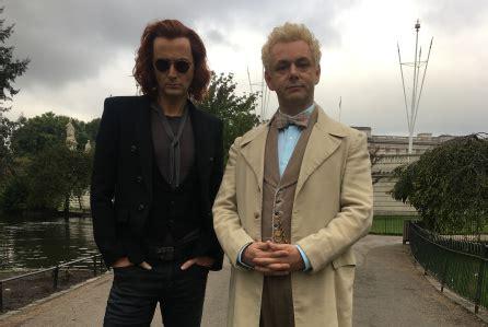 david tennant ginger photo good omens david tennant michael sheen suit up