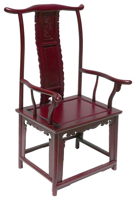 ming style rosewood yoke back arm chair