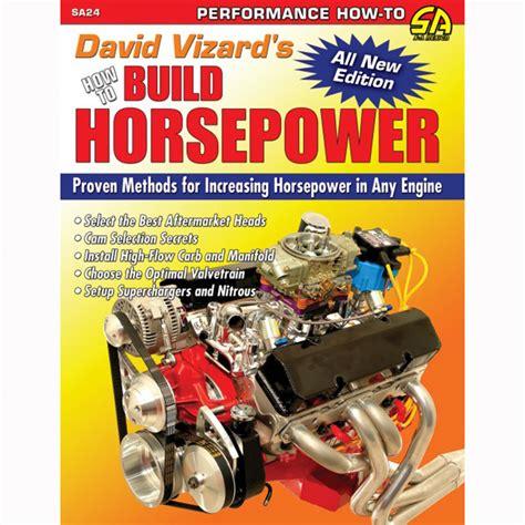 Sa Design David Vizards How To Build Horsepower Book