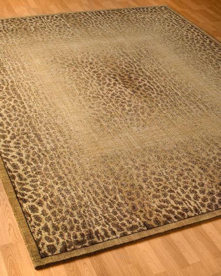 cheetah rug leopard shadow rug