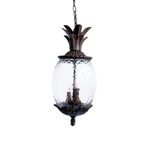 Pineapple Pendant Light Acclaim Lighting 7516bc Black Coral 3 Light 21 Quot Height Pineapple Outdoor Pendant From The Lanai
