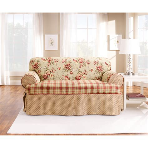Slipcovers For Sofas With Cushions by Sure Fit T Cushion One Loveseat Slipcover