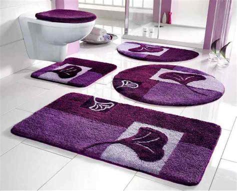 badezimmerteppich 3 teilig 2 tlg set badgarnitur lila 50 x 90 badematte badteppich