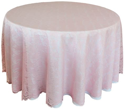 pink lace table overlay toppers linens round