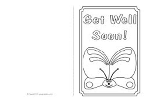 get well soon colouring card template get well soon card colouring templates sb8890 sparklebox