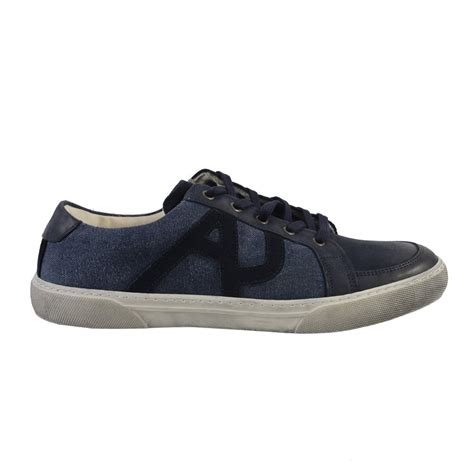 armani shoes armani s blue leather suede fashion sneakers